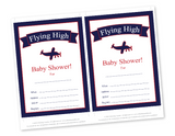 Flying High DIY baby shower invites - Celebrating Together