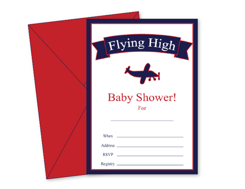 DIY flying high baby shower invitations - Celebrating Together