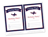 diy plane themed birthday party invites - Celebrating Together