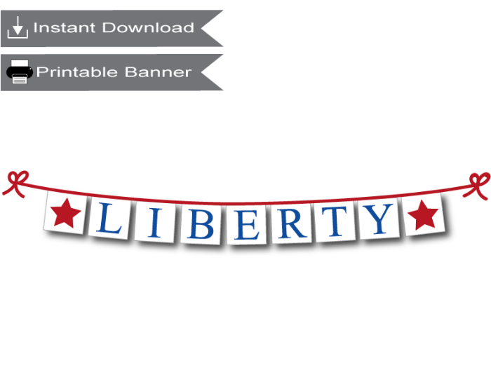 printable liberty banner - Celebrating Together