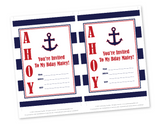 diy nautical birthday invitations - Celebrating Together