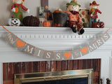 Rustic From Miss To Mrs Banner - Celebrating Together