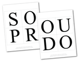 printable pages for so proud of you banner - Celebrating Together