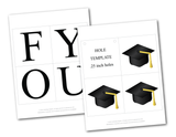Printable pages for graduation banner - graduation cap decor - Celebrating Together