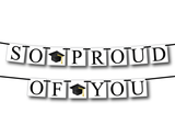 printable so proud of you banner - graduation cap decoration - Celebrating Together