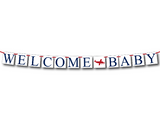 DIY welcome baby bunting - printable baby shower decor - Celebrating Together
