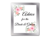 Printable Advice For The Bride and Groom Sign and Advice Cards