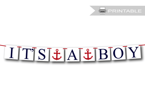 printable it's a boy banner - Celebrating Together