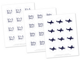 diy cupcake toppers - airplane baby shower favor tags - Celebrating Together