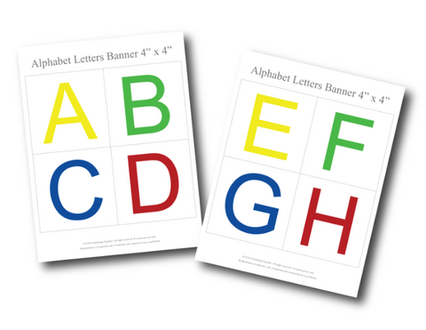 photograph relating to Large Printable Letters for Banners known as Printable Alphabet Banner