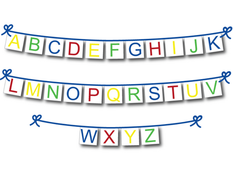 alphabet letters banner - Celebrating Together