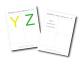printable letters y and z and hole template for banners