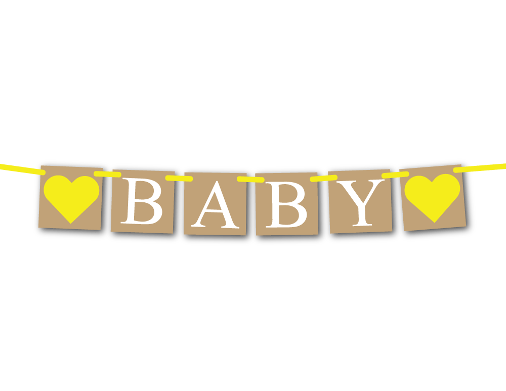 Rustic Baby Banner Gender Reveal And Baby Shower Decorations Celebrating Together