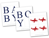 plane baby shower banner template for baby boy banner - Celebrating Together