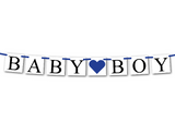 baby boy banner - baby shower decoration - Celebrating Together