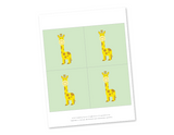 Printable giraffes for baby shower banner- Celebrating Together