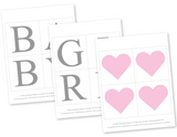 printable baby girl banner - sweet baby collection baby shower banner - Celebrating Together