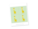 Printable giraffes for baby shower decor - Celebrating Together