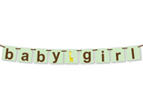printable giraffe baby girl banner - Celebrating Together