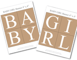 printable baby girl banner kit - Celebrating Together