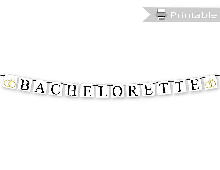 diy bachelorette party banner - printable bachelorette decorations - Celebrating Together