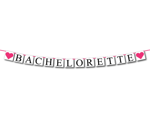 bachelorette banner - bachelorette party decorations - Celebrating Together