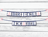 nautical bride to be banner in navy and pink design - Celebrating Together