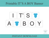 DIY it's a boy onesie banner - Celebrating Together