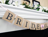 rustic bride and groom wedding banner - Celebrating Together