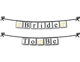 printable bride to be banner - wedding ring bridal shower decor - Celebrating Together