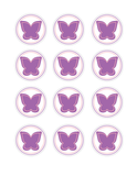 printable purple butterflies for girls birthday party decor - Celebrating Together