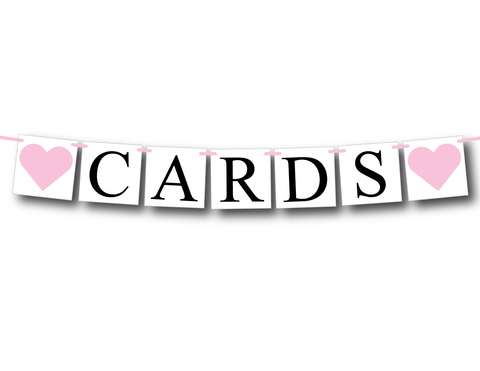 Cards banner - Baby Shower Decor and Bridal Shower Decorations - Celebrating Together