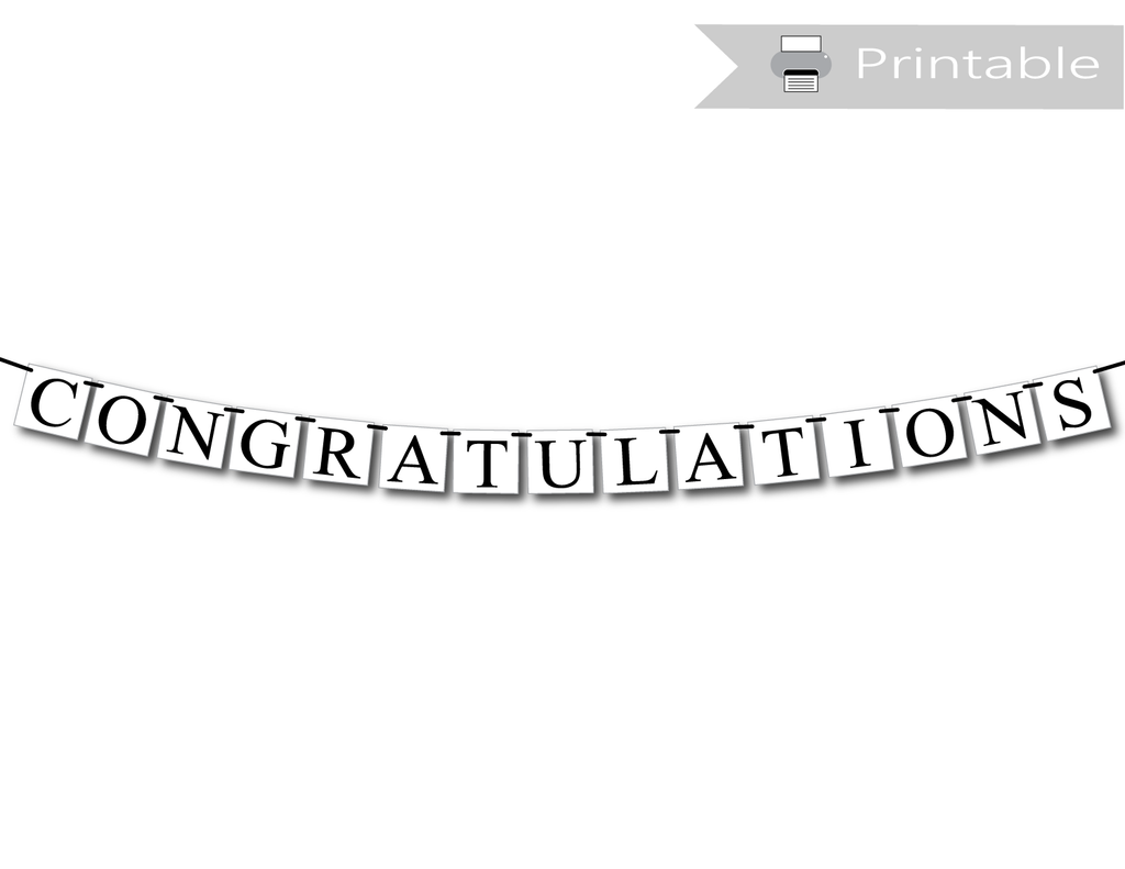 DIY congratulations banner - graduation party decor - Celebrating Together