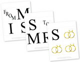 diy from miss to mrs banner - diamond ring bling bridal shower decor - Celebrating Together