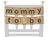printable mommy to be chair banner - Giraffe baby shower decor - Celebrating Together