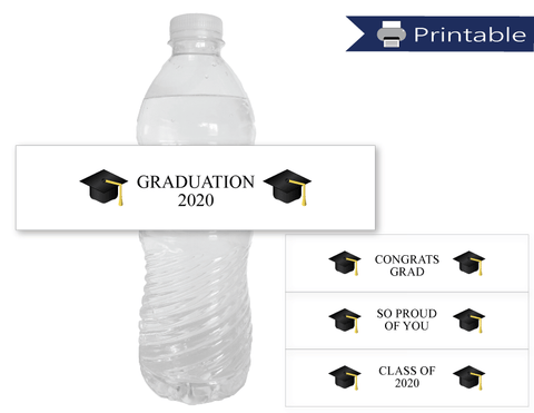 printable graduation water bottle labels - Celebrating Together