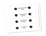 DIY graduation water bottle labels - Celebrating Together