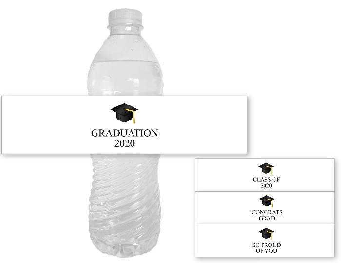 Printable 2020 Graduation Party Water Bottle Labels