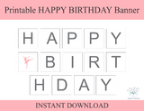 printable ballerina happy birthday banner - Celebrating Together