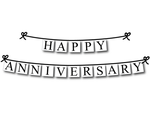 happy anniversary banner - Celebrating Together