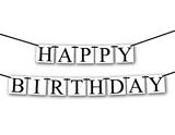 simple happy birthday banner - Celebrating Together