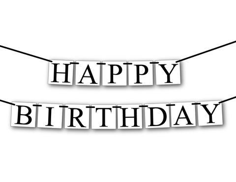 happy birthday banner - birthday party decor -Celebrating Together