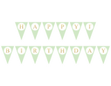 gold glitter and mint happy 1st birthday sign - girls birthday party decoration - Celebrating Together