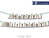 DIY jungle happy birthday banner - Celebrating Together