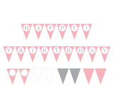 happy birthday printable banner for girls - Celebrating Together