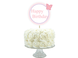 printable butterfly happy birthday cake topper - Celebrating Together
