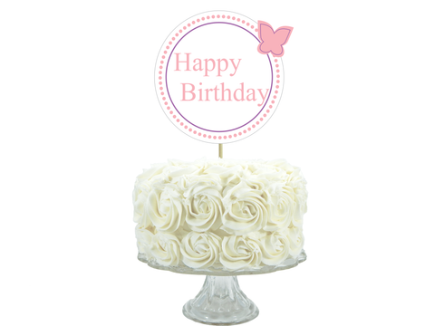 Printable happy birthday cake topper - Celebrating Together