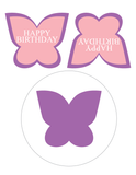 Printable butterfly birthday party decoration - Celebrating Together