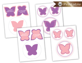 Printable butterfly centerpiece picks - Celebrating Together