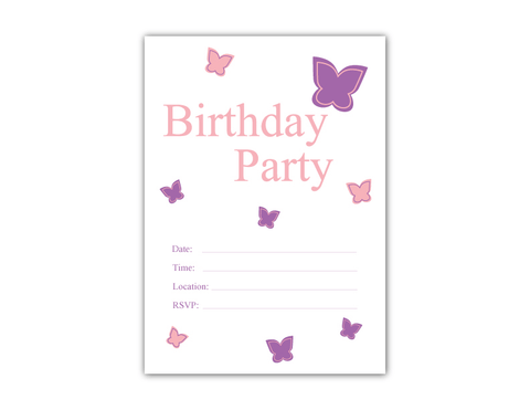 image about Printable Birthday Party Invitations named Printable Butterfly Birthday Get together Invitation